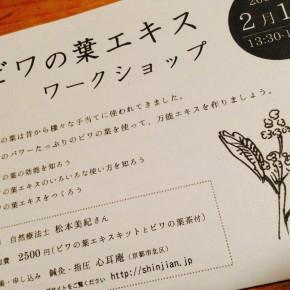 【満席】2/1 ビワの葉エキスワークショップ